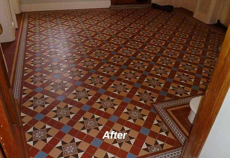 Victorian Floor Tiling The Old Vicarage, Publow